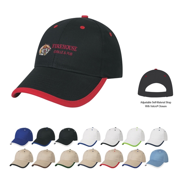 Hitwear (r) - Embroidery - 6 Panel Medium Profile Cap With Structured Crown And Pre-curved Visor Photo