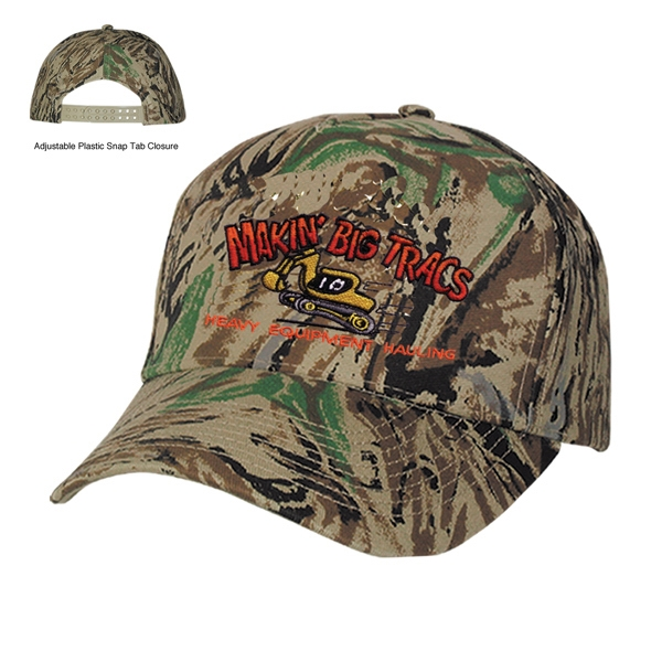 Hitwear (r) - Embroidery - Camouflage Five Panel Cap With Pre-curved Visor Photo