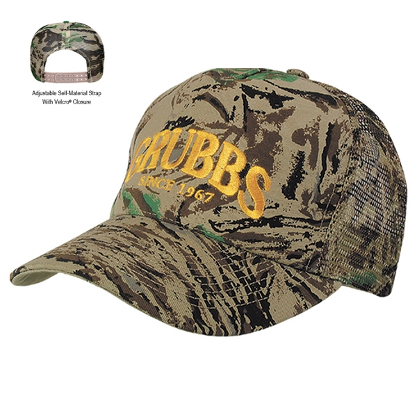 Hitwear (r) - Transfer - Camouflage Cap With Five Panels And Mesh Back Photo
