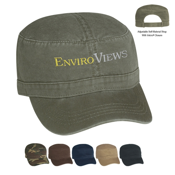 Hitwear (r) - Cotton Twill Military Cap With Unstructured Crown And Pre-curved Visor Photo