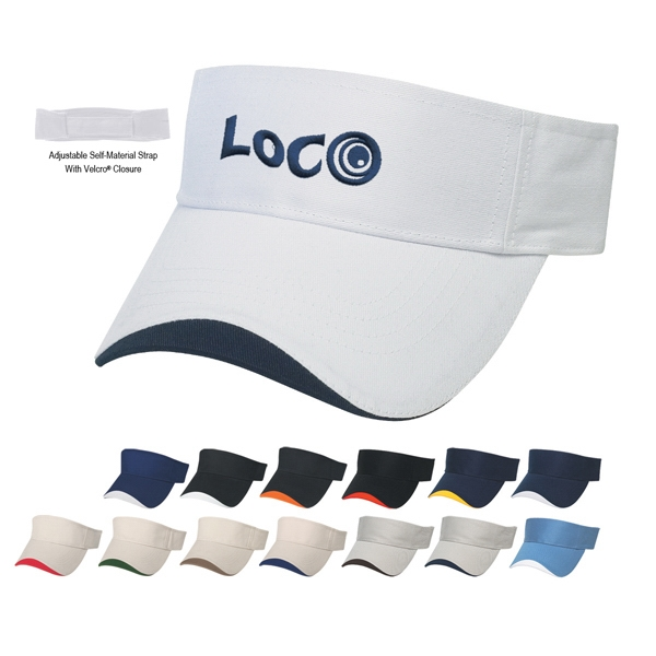 Hitwear (r) Wave - Wave Sandwich Visor,100% Brushed Cotton Twill Photo