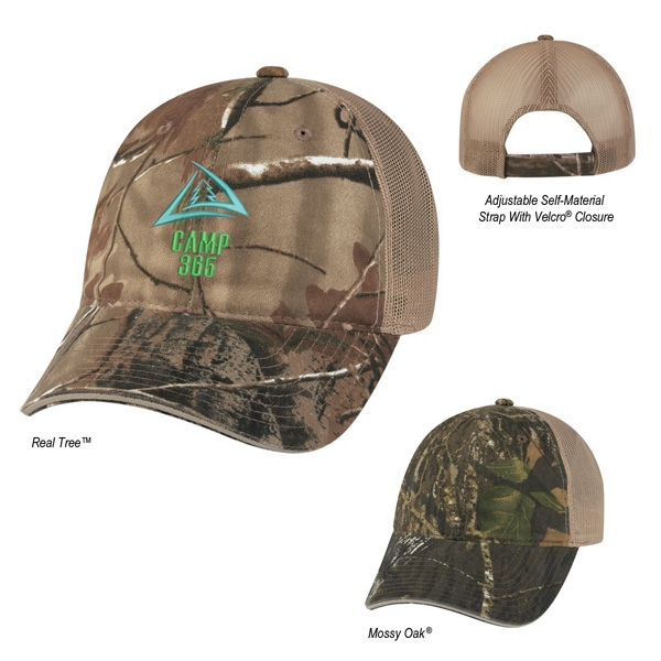 Hitwear (r) Hunter's Hideaway - Camouflage Cap, 6 Panel, Low Profile 100% Brushed Cotton Photo