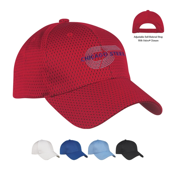 Hitwear (r) - Polyester Jersey Mesh Cap With Low Profile And Pre-curved Visor Photo