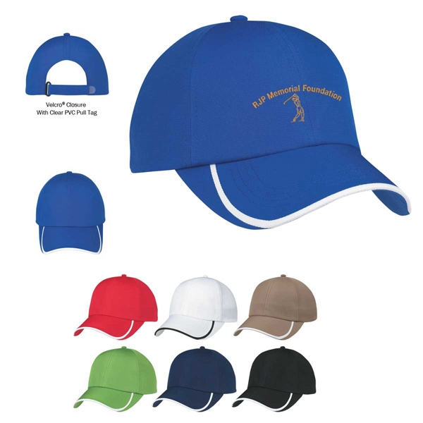 Hitwear (r) Hit-dry - Embroidery - 100% Polyester, 6 Panel Cap With Medium Profile And Unstructured Crown Photo