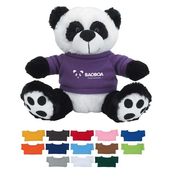 "8 1/2"" Plush Big Paw Panda With Shirt Photo"