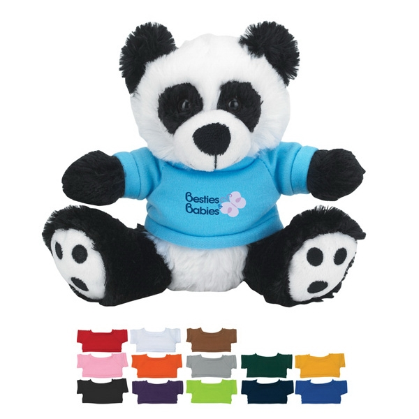 "6"" Plush Big Paw Panda With Shirt Photo"