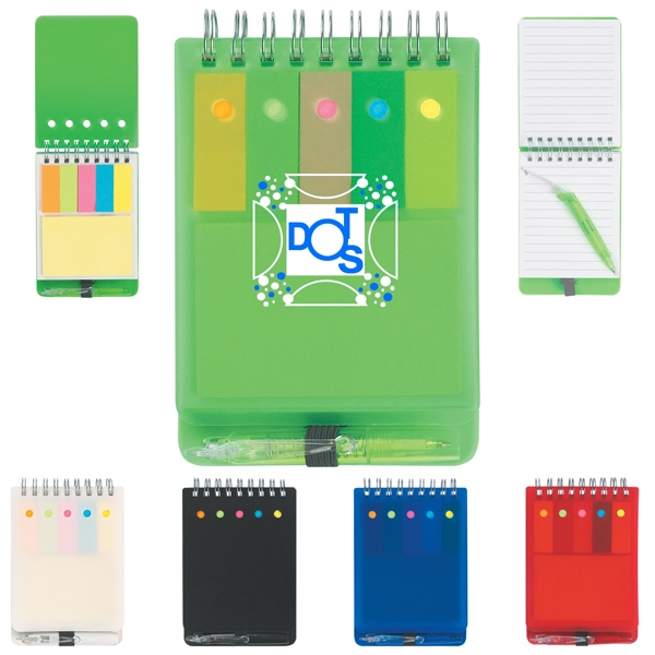 Spiral Jotter With Sticky Notes, Flags & Pen Photo