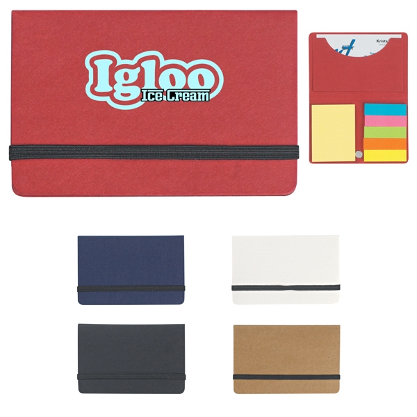 Sticky Notes And Flags In Pocket Case Photo