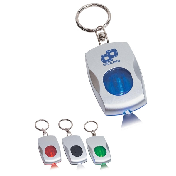 Color Light Keychain With Light Beam That Matches Accent Colors Photo