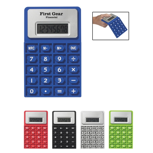 Flexi Calc - Flexible Rubber Calculator With 8 Digit Display Photo