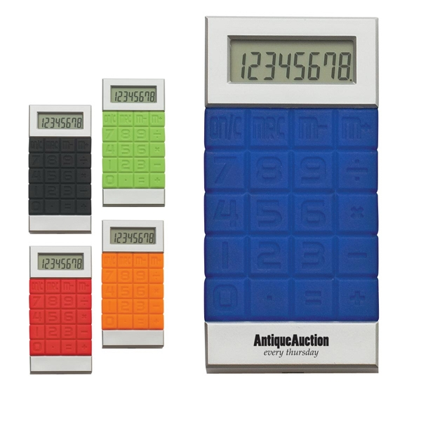 Silicone Key Calculator, 8 Digit Display, Battery Included Photo