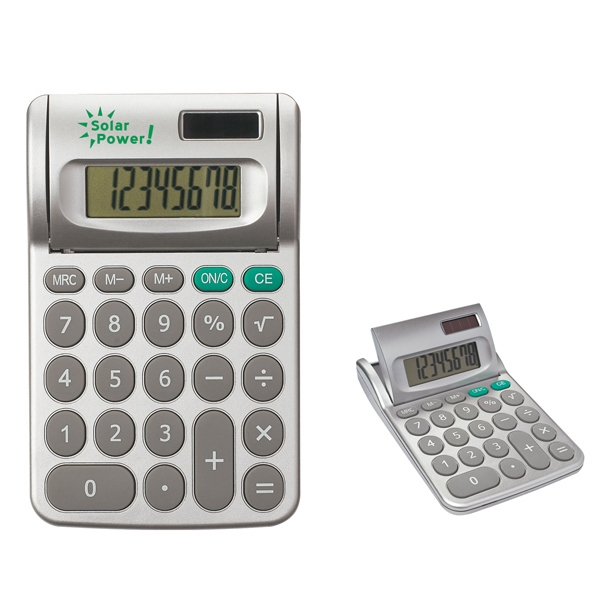 Adjustable Dual Power Calculator With 8 Digit Adjustable Display, Battery Included Photo