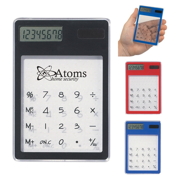 Clear Solar Calculator With 8 Digit Display Photo
