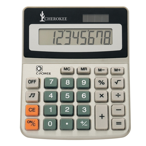 Solar Calculator With 8 Digit Display, Battery Included, Turn Sound On Or Off Photo