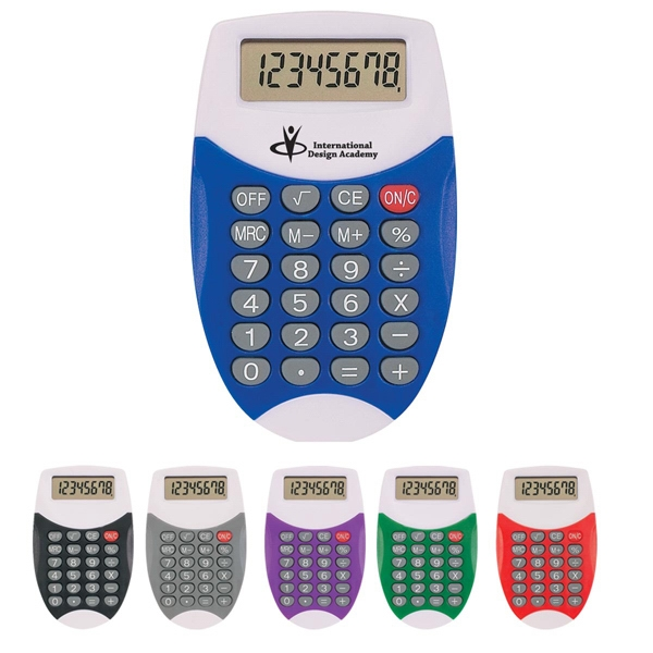 Oval Calculator With 8 Digit Display And Battery Included Photo