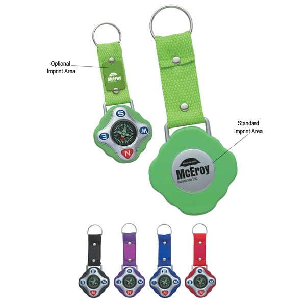 Compass Key Ring With Strap And Split Ring Photo