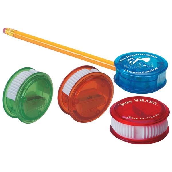 Plastic Pencil Sharpener With Thumb Slide Cover For Easy Cleaning Photo