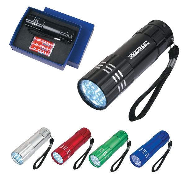 Aluminum Led Flashlight With Strap Photo