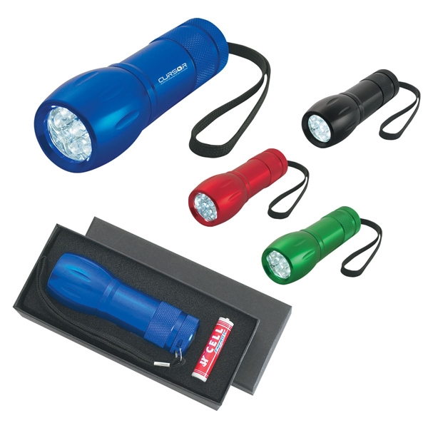 Aluminum Led Torch Light With Strap Photo