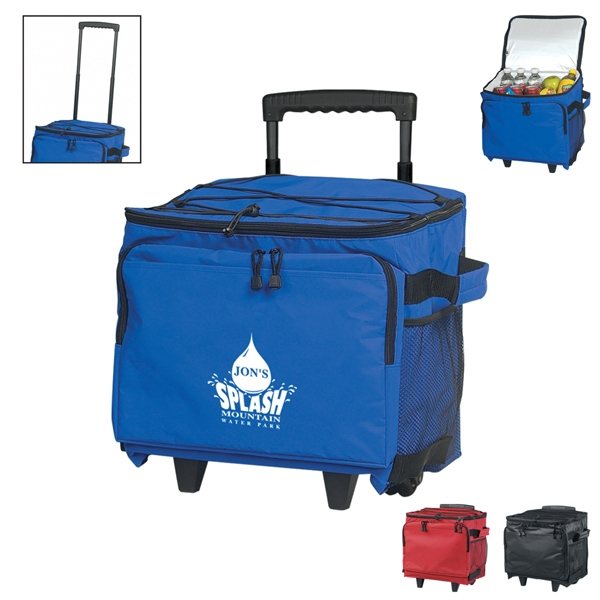 Kooler - Rolling Cooler Made Of 70 Denier Cross Weave Nylon, Retractable Auto Lock Handle Photo