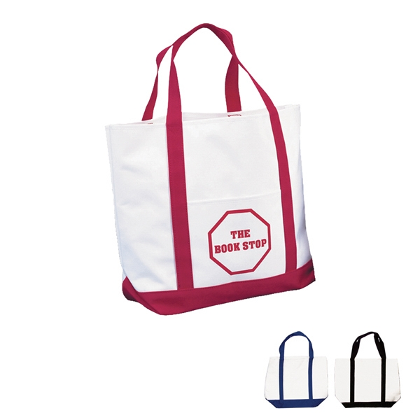 Transfer - White 600 Denier Polyester Tote Bag With Pvc Backing With Matching Bottom Gusset Photo