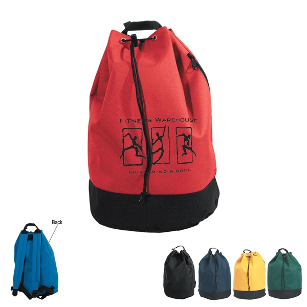 Embroidery - Drawstring Tote/backpack With Pvc Lining And Adjustable Padded Straps Photo