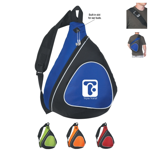 Silkscreen - Sling Backpack With Adjustable Padded Shoulder Sling With Mesh Cell Phone Holder Photo