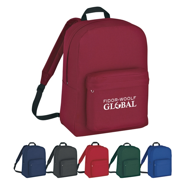 Classic - Embroidery - Backpack Made Of 210d Polyester With Web Carrying Handle Photo