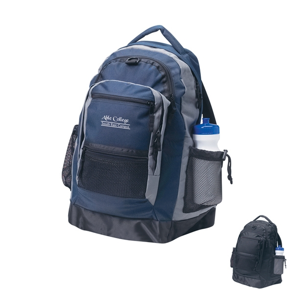 Embroidery - Sports Backpack Made Of 600 Denier Nylon With Ballistic Vinyl Bottom Support Photo