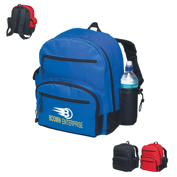 Level One - Embroidery - Backpack With Main Compartment And Front Zippered Pocket Photo