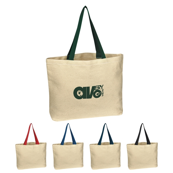 "Silkscreen - Natural 8 Oz. Cotton Canvas Tote Bag With 20"" Handles Photo"