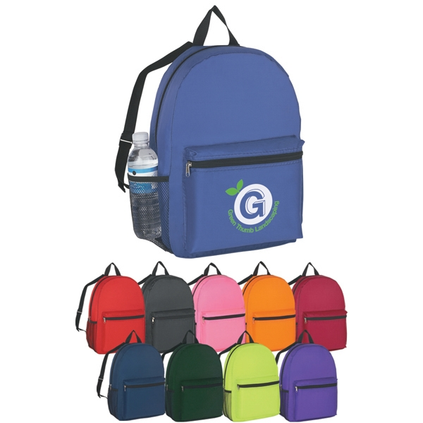 Budget - Embroidery - Backpack, Made Of 210 Denier Polyester Photo