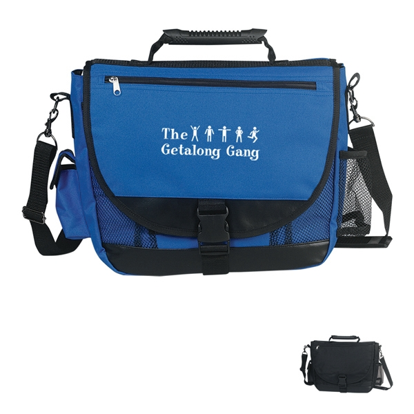 Embroidery - Messenger Bag Made Of 600 Denier Polyester With High Tech Rubber Handle Photo