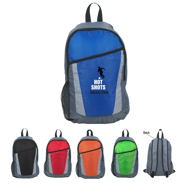 City - Embroidery - Backpack Made Of 210d Polyester With Large Front Pocket Photo