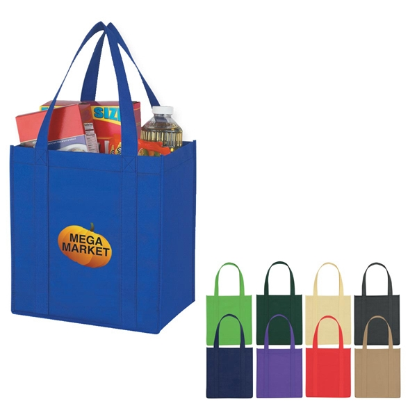 "Recyclable Tote Bag With Reinforced 21"" Handles Photo"