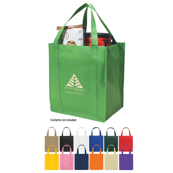 "Recyclable Tote Bag With Reinforced 20"" Handles Photo"