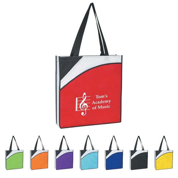 Non-Woven Conference Tote Bag - Design: Think and Do 2x1 Brick
