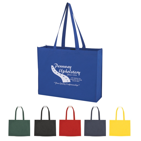 "Non Woven Shopper Tote With Velcro (r) Closure With 30"" Handles Photo"