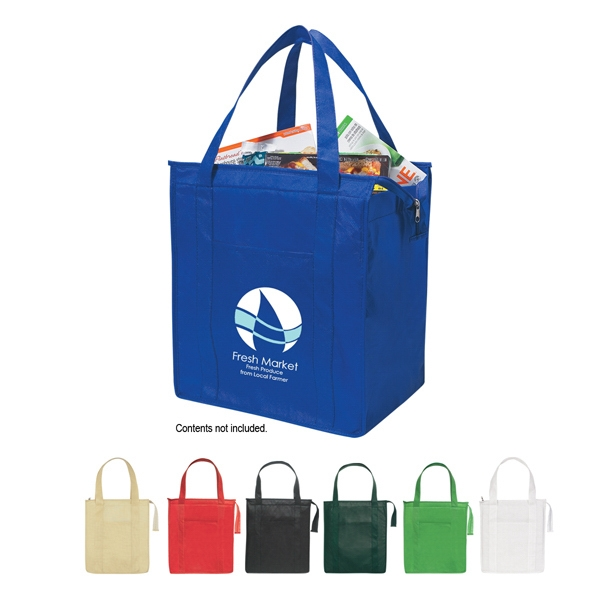 "Recyclable Insulated Tote Bag With Reinforced 23"" Handles Photo"