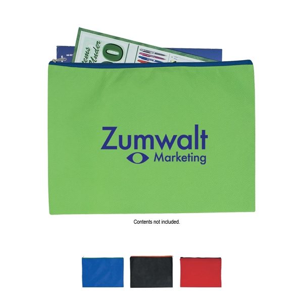 Non Woven Document Sleeve With Zipper Photo
