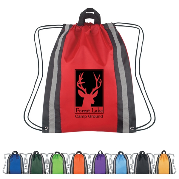 Large Reflective Sports Pack With Drawstring Closure And Carrying Handles Photo