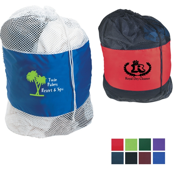 Laundry Bag Made Of 210 Denier Nylon With Soft Nylon Mesh Body Photo