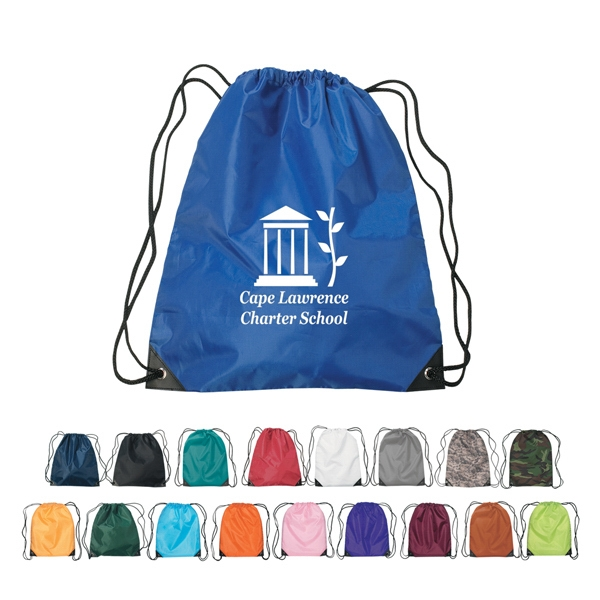 Teal - Silkscreen - Small Sports Pack With Polyester Drawstring Photo