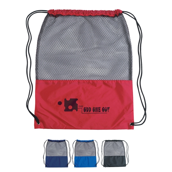 Drawstring Mesh Sports Pack Made Of 210 Denier Nylon Photo