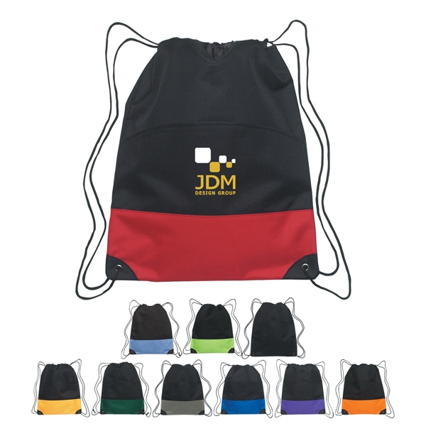 Embroidery - 600 Denier Polyester Drawstring Sports Pack With Outside Pocket Photo