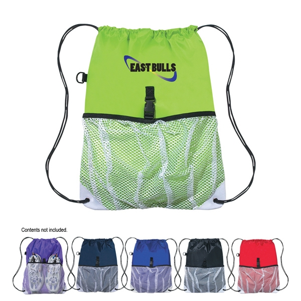 Drawstring Sports Pack With Outside Mesh Pocket Photo