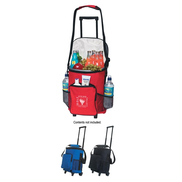 Transfer - Polyester, 18 Can Rolling Cooler With Front Storage Pocket Photo
