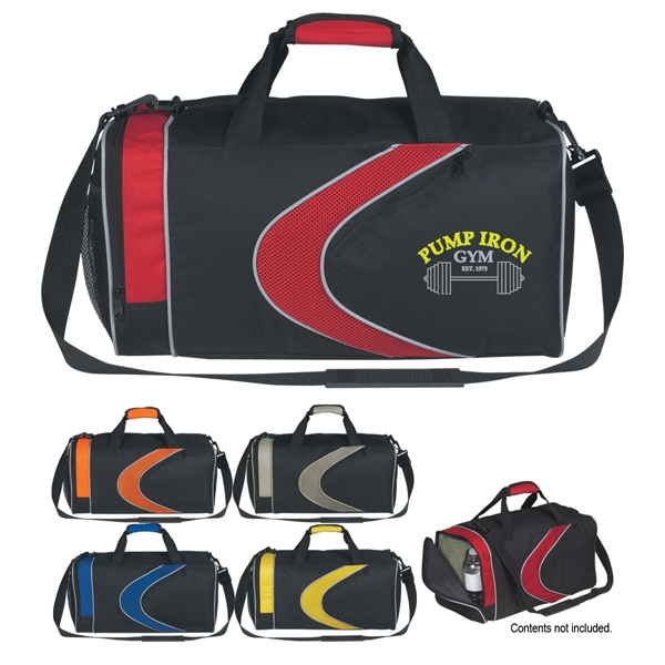 Silkscreen - Sports Duffel Bag With Top Zippered Compartment And Shoulder Strap Photo