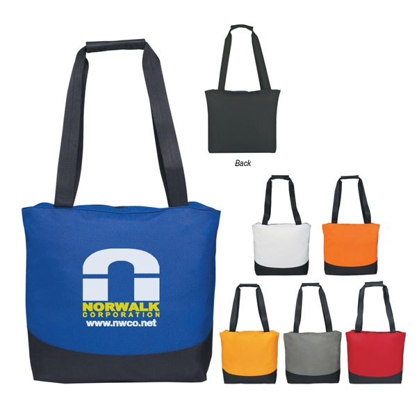 Curve - Transfer - Tote Bag With Top Zippered Closure And Web Handles Photo