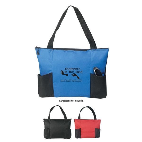 Silkscreen - Double Pocket Zippered Tote Bag Photo
